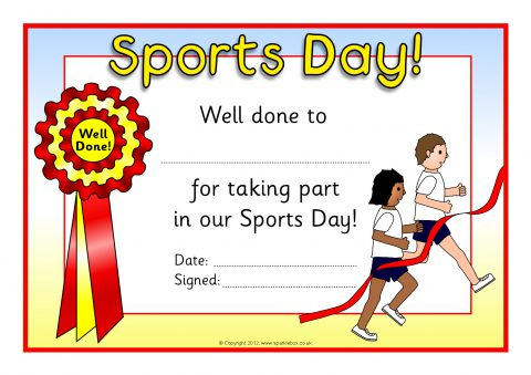Certificate Clipart Sports Day, Certificate Sports Day inside Sports Day Certificate Templates Free