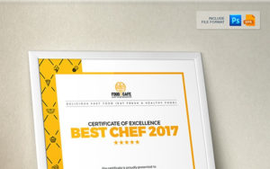Certificate Design Template For Best Chef Fast Food And Restaurant  Certificate Template with regard to Restaurant Gift Certificate Template 2018 Best Designs