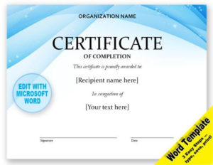 Certificate Editable Word Template, Printable, Instant Throughout Best Certificate Templates For Word Free Downloads