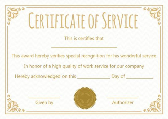 Certificate For 10 Years Of Service Template | Award with Best Travel Certificates 10 Template Designs 2019 Free