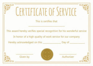 Certificate For 10 Years Of Service Template | Award within Fresh Certificate For Years Of Service Template