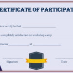 Certificate For Participation In Workshop Template Inside Best Certificate Of Participation In Workshop Template