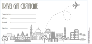 Certificate For Travel Agent Free 3 | Gift Certificate within Travel Certificates 10 Template Designs 2019 Free
