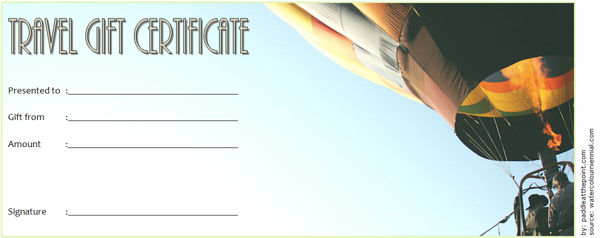 Certificate For Travel Agent Free 4 for Unique Travel Gift Certificate Templates