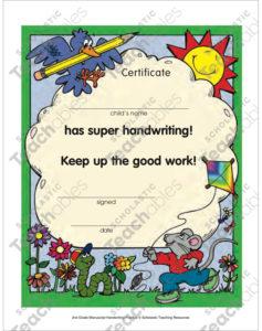 Certificate: Handwriting Award | Printable Awards And in Best Handwriting Award Certificate Printable