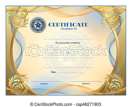 Certificate (Horizontal) Jpeg intended for High Resolution Certificate Template