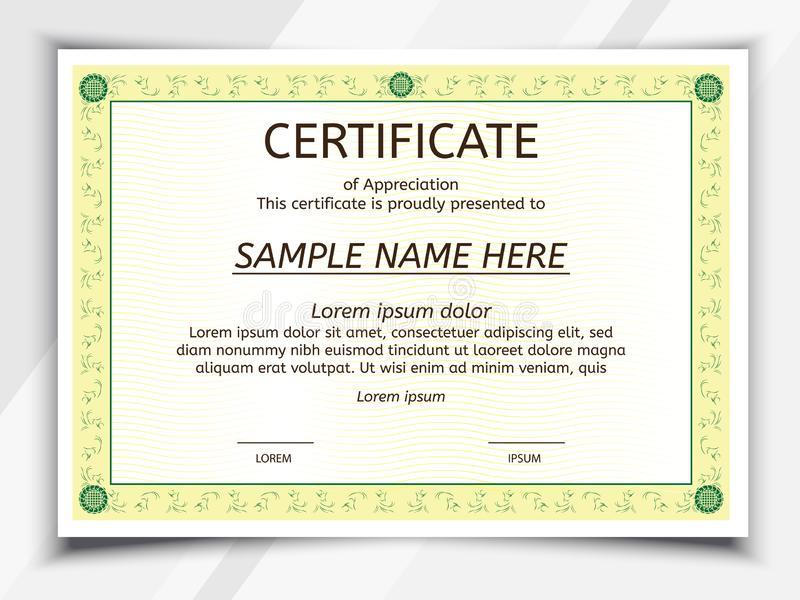 Certificate Landscape Template Stock Vector - Illustration intended for Landscape Certificate Templates