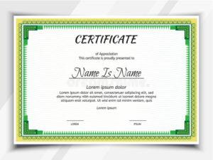 Certificate Landscape Template Stock Vector – Illustration intended for Landscape Certificate Templates