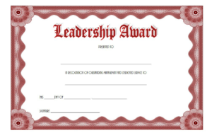 Certificate Leadership And Management Free Printable 3 inside Outstanding Student Leadership Certificate Template Free