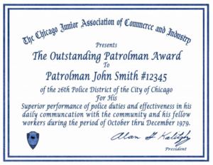 Certificate Letter Awards Chicagocop Pertaining To Life with regard to New Life Saving Award Certificate Template