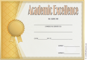 Certificate Of Academic Excellence Award Free Editable 1 with regard to Certificate Of Academic Excellence Award