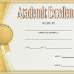 Certificate Of Academic Excellence Award Free Editable 1 With Regard To Quality Academic Excellence Certificate