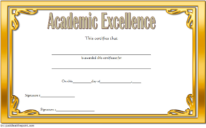 Certificate Of Academic Excellence Award Free Editable 2 in Unique Academic Award Certificate Template