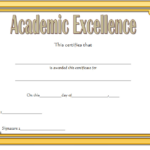 Certificate Of Academic Excellence Award Free Editable 2 Pertaining To Certificate Of Academic Excellence Award
