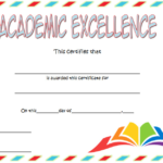 Certificate Of Academic Excellence Award Free Editable 3 With Regard To Unique Certificate Of Academic Excellence Award