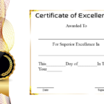 Certificate Of Academic Excellence | Certificate Template In Unique Certificate Of Academic Excellence Award