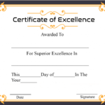 Certificate Of Academic Excellence | Certificate Template With Regard To Academic Excellence Certificate