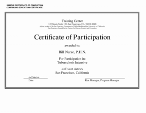 Certificate Of Accomplishment Template Free Unique pertaining to Unique Continuing Education Certificate Template