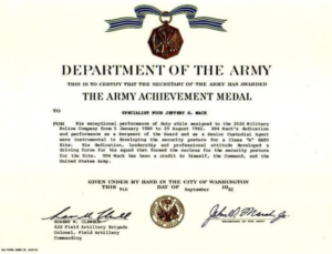 Certificate Of Achievement Army Template (2) – Templates regarding Certificate Of Achievement Army Template