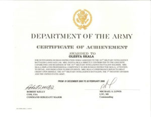 Certificate Of Achievement Army Template In 2020 intended for Fresh Certificate Of Achievement Army Template
