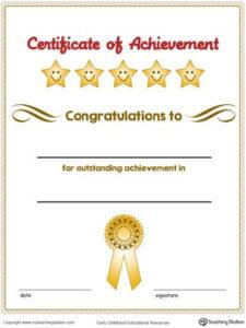 Certificate Of Achievement Award In Color | Certificate Of inside Fresh 10 Science Fair Winner Certificate Template Ideas
