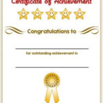 Certificate Of Achievement Award In Color | Certificate Of Within Certificate Of Accomplishment Template Free