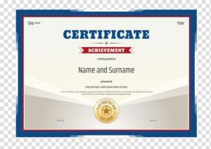 Certificate Of Achievement Document, Academic Certificate inside Academic Certificate
