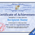Certificate Of Achievement – Free Templates Easy To Use Throughout New Certificate Of Accomplishment Template Free
