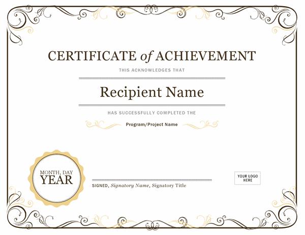 Certificate Of Achievement in Fresh Certificate Of Attainment Template