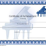 Certificate Of Achievement - Piano Printable Certificate within Piano Certificate Template Free Printable