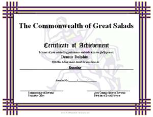 Certificate Of Achievement – Runners Printable Certificate throughout New Running Certificate Templates 10 Fun Sports Designs