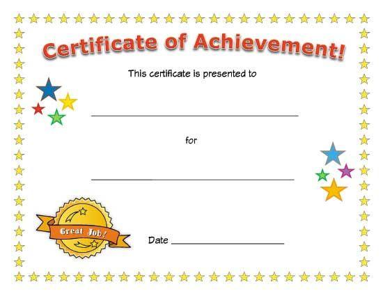 Certificate Of Achievement | School Certificates intended for New Certificate Of Achievement Template For Kids