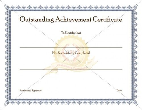 Certificate Of Achievement Template Awarded For Different with Fresh Outstanding Effort Certificate Template