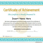Certificate Of Achievement Template For Ms Word Download A Within Unique Word Template Certificate Of Achievement