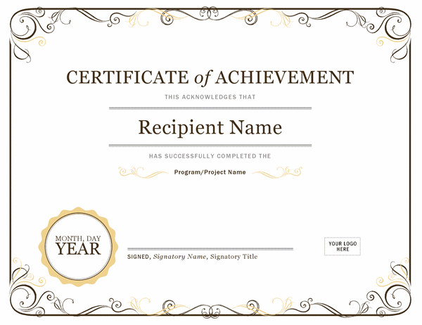 Certificate Of Achievement Within Certificate Of Accomplishment Template Free