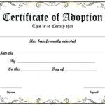 Certificate Of Adoption Template   Certificate Template In New Pet Adoption Certificate Template