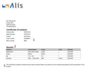 Certificate Of Analysis – Alisqi Help Center regarding Certificate Of Analysis Template