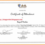 Certificate Of Appearance Template (5) – Templates Example Throughout New Certificate Of Appearance Template