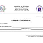 Certificate Of Appearance Template | Certificate Templates Throughout New Certificate Of Appearance Template