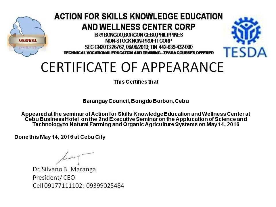 Certificate Of Appearance Template | Certificate Templates with regard to New Certificate Of Appearance Template