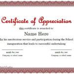Certificate Of Appreciation 01   Certificate Of With Regard To In Appreciation Certificate Templates