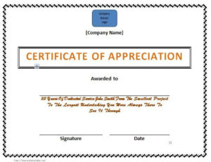 Certificate Of Appreciation 200 Hours Of Outstanding within Best Outstanding Volunteer Certificate Template