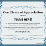 Certificate Of Appreciation For Ms Word Download At Http Pertaining To Downloadable Certificate Of Recognition Templates