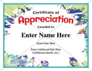 Certificate Of Appreciation Kid Certificate Child   Etsy throughout Bravery Certificate Template 10 Funny Ideas