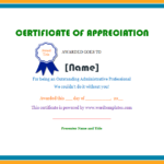 Certificate Of Appreciation   Microsoft Word Templates with regard to Unique Employee Appreciation Certificate Template