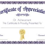 Certificate Of Appreciation Template, Certificate Of For New In Appreciation Certificate Templates