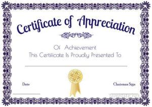 Certificate Of Appreciation Template, Certificate Of throughout Free Certificate Of Appreciation Template Downloads
