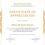 Certificate Of Appreciation Template Doc (3) – Templates With Regard To Fresh Certificate Of Appreciation Template Doc