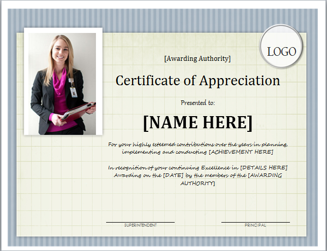 Certificate Of Appreciation Template For Word | Document Hub regarding Certificate Of Appreciation Template Word