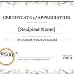 Certificate Of Appreciation Word Template    Certificate Of With Template For Certificate Of Appreciation In Microsoft Word